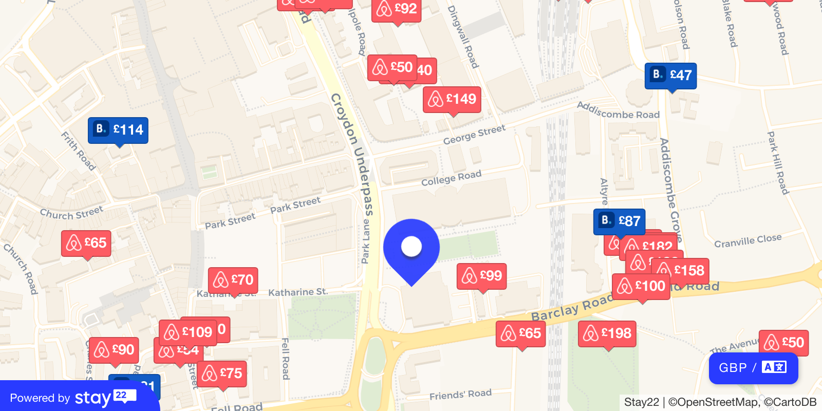 Places to stay near Fairfield Halls