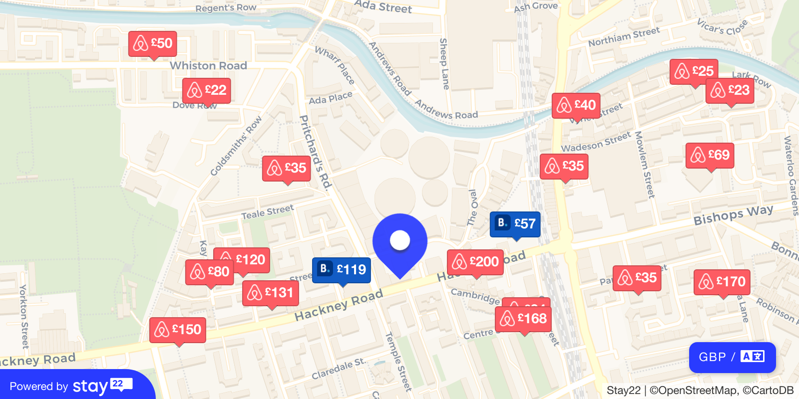 Places to stay near Oval Space