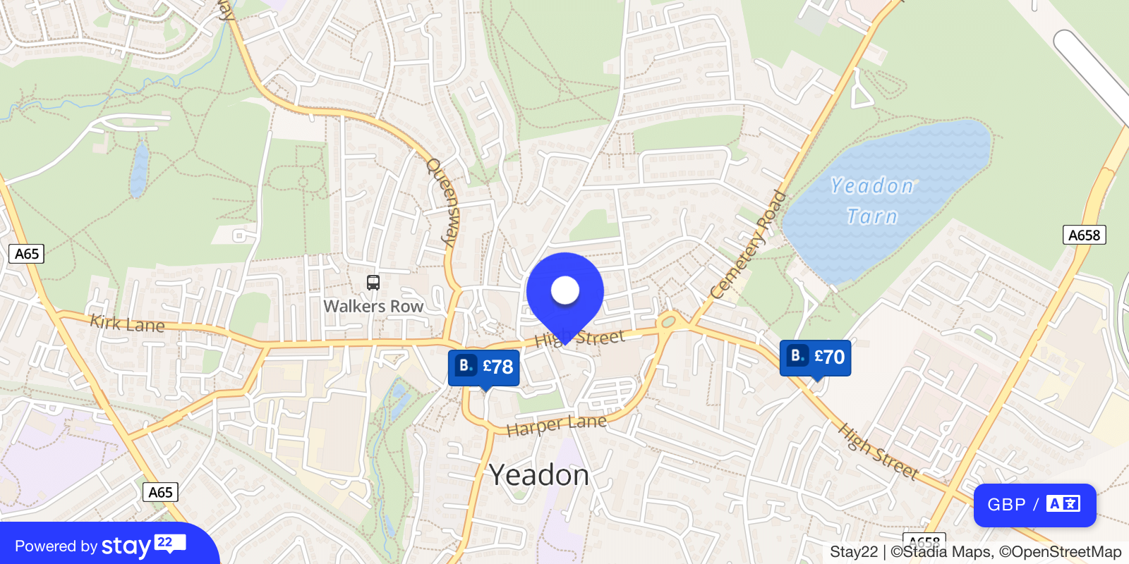Places to stay near Yeadon Town Hall