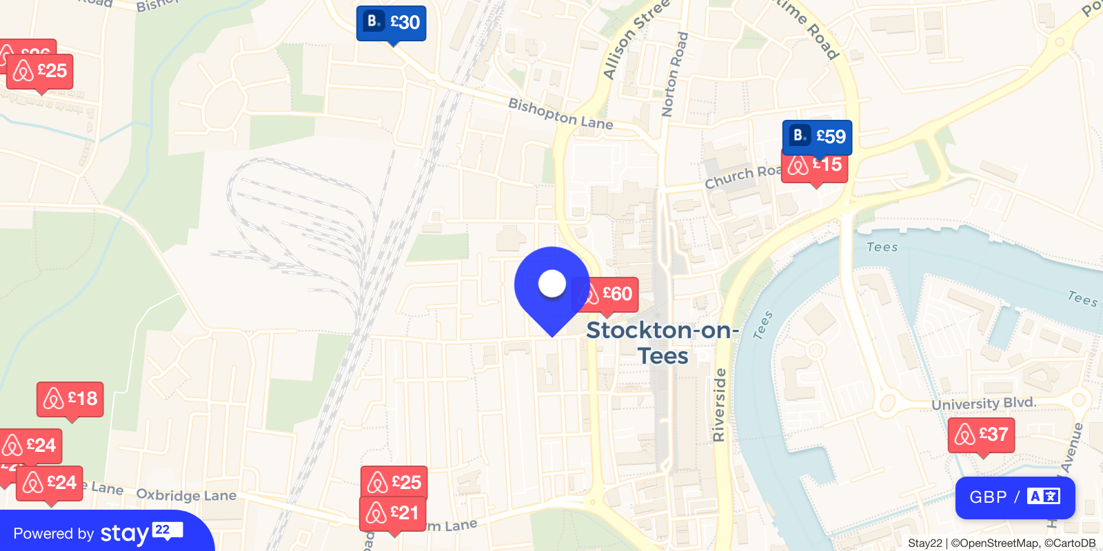 Places to stay near ARC (Stockton Arts Centre)