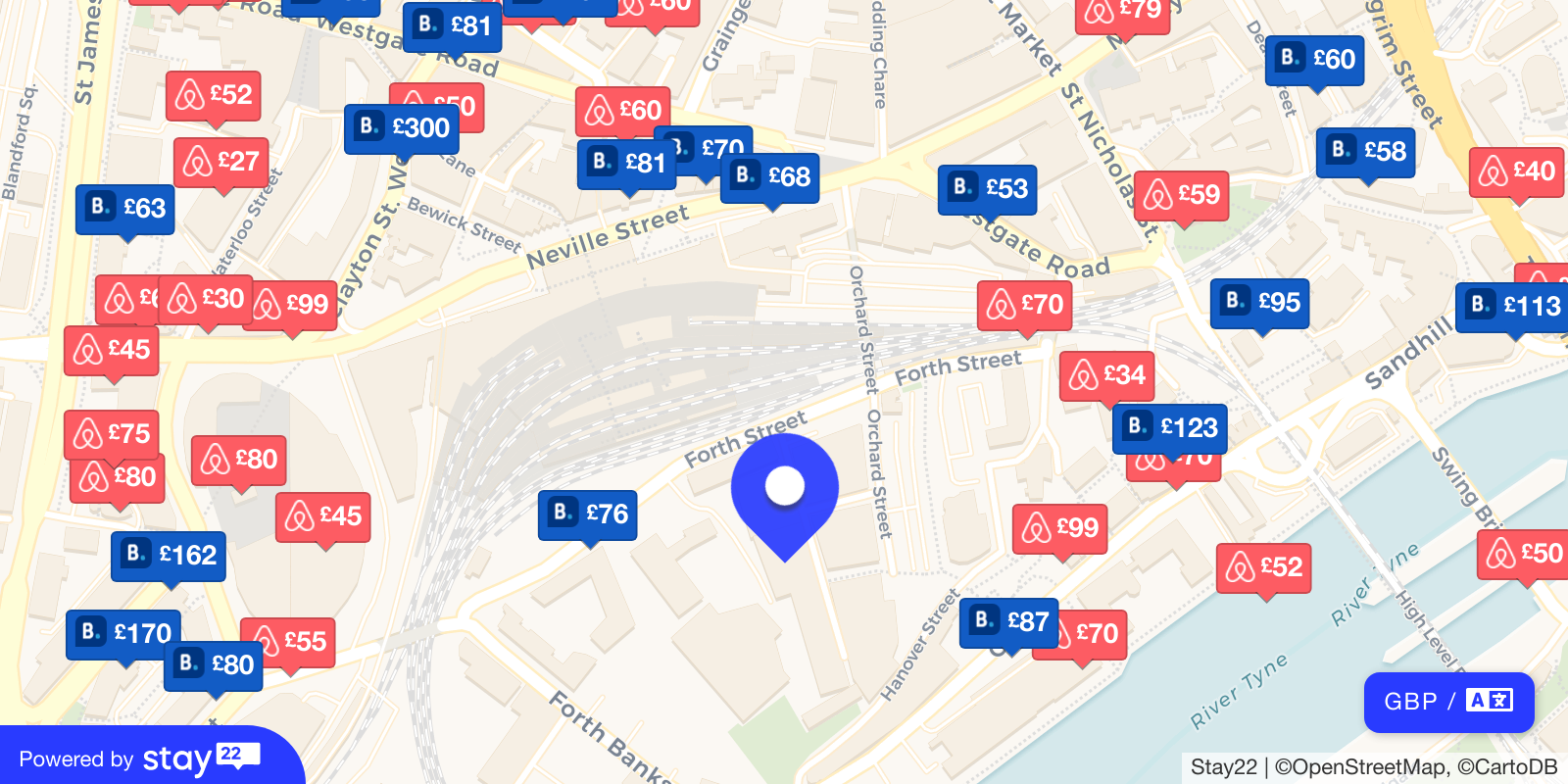 Places to stay near Boiler Shop