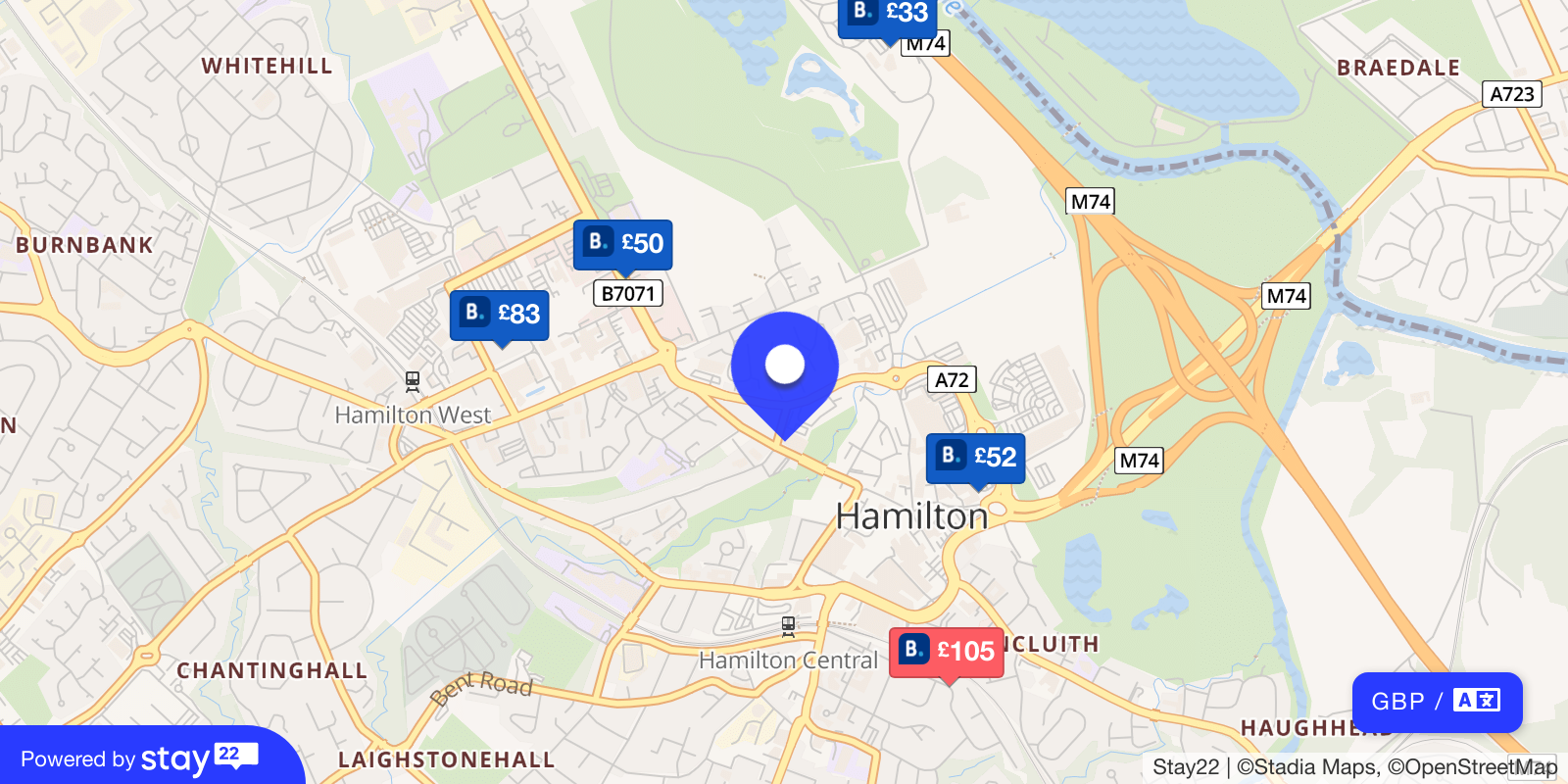 Places to stay near The Town House