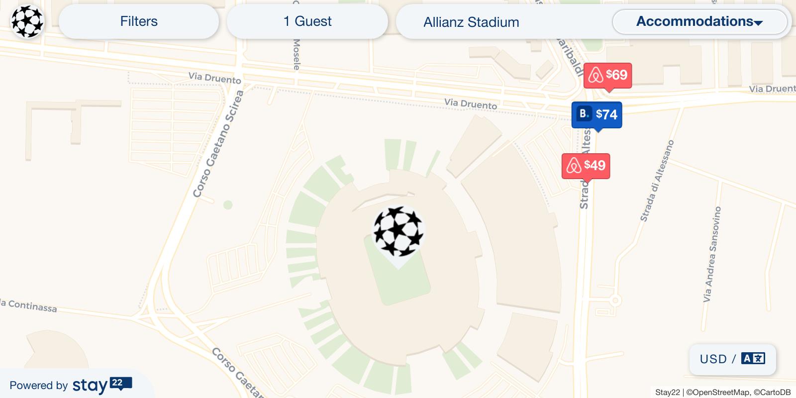 Juventus Italy Map.Juventus Vs Real Madrid